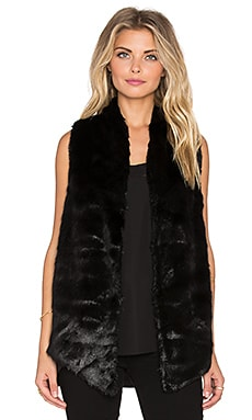 Yumi Kim Cuddle Me Chic Faux Fur Vest in Black