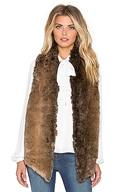 Yumi Kim Cuddle Me Chic Faux Fur Vest in Caramel