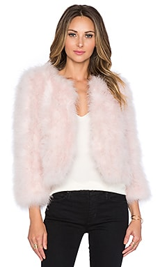 Away We Go Faux Fur Feather Jacket