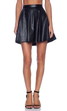 Yumi Kim Cherry Bomb Skirt in Vegan Leather