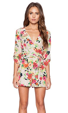 Yumi Kim Liz Romper in Peonies Bloom