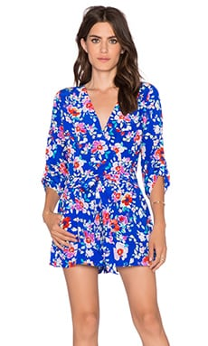 Yumi Kim Liz Romper in Blue Love Potion
