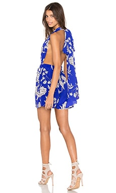 No Limit Romper in Royal Blue Carnation