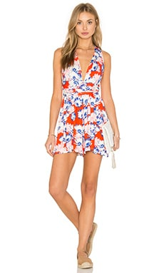 No Limit Romper in Orange Fireworks