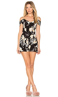 Rock the Boat Romper in Bay Breeze Black