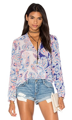 Lilian Top in Paisley Love