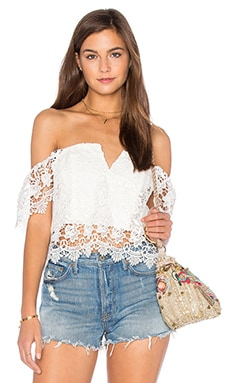 Yumi Kim Hot Stuff Crop Top in White