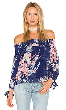 Cabana Top in Botanical Garden Navy