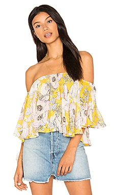 T-shirt Butterfly en Bora Bora Yellow