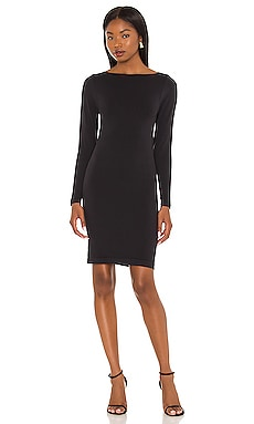 Sintra Smoothing Long Sleeve Boat Neck Dress Yummie $98