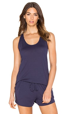 Yummie by Heather Thomson Pima Jersey Slim Racer Tank in Eclipse