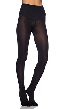 Deidra Mid Waist Footed Legging in Black