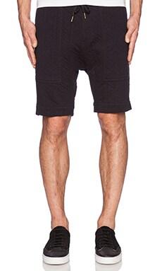 Zanerobe Gabe Short in Quilted Black