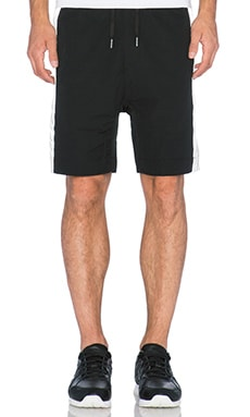 Zanerobe Gabe Reflecto Short in Black & Silver
