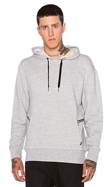 Zanerobe Hooded Sweatshirt in Grey Marle