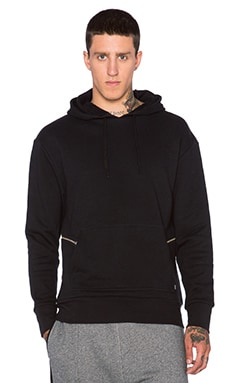 Zanerobe Hooded Sweatshirt in Black