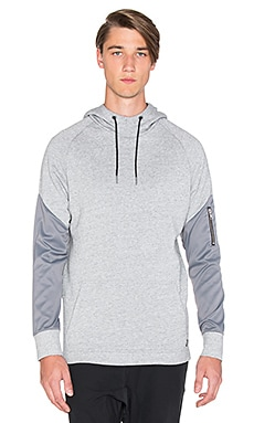 Zanerobe XO Hood Sweatshirt in Grey Marle & Light Grey