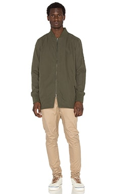 Zanerobe Aten Long Bomber in Olive
