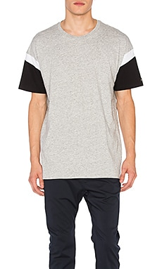 Zanerobe Splinter Rugger Tee in Grey Marle & Black