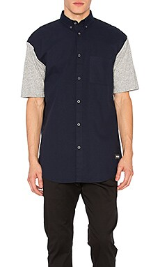 Zanerobe Seven Foot Shirt in Navy & Grey Marle