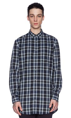 Zanerobe Eight Foot Shirt in Navy Plaid