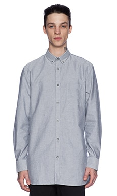 Zanerobe Eight Foot Shirt in Grey Oxford