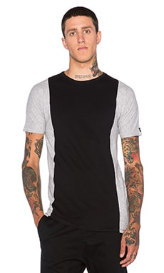 Zanerobe Flintlock Side Tee in Black & Grey Marle