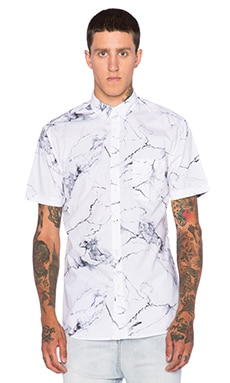 Zanerobe Seven Foot Shirt in White Marble