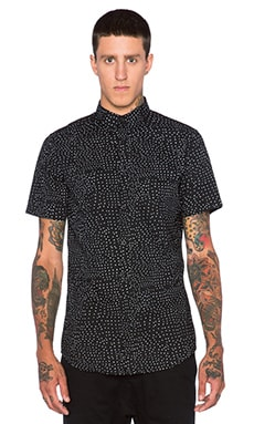 Zanerobe Seven Foot Shirt in Black Skitz Polka