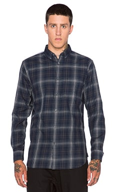 Zanerobe Wire Plaid Shirt in Dark Navy