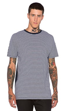 Zanerobe 2 Piece Tee in White Stripe & Dark Navy