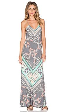 Z&L Printed Maxi Dress in Grey
