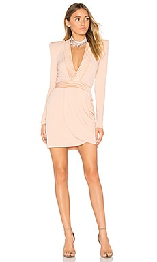 Eye of Horus Mini Dress in Nude