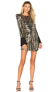 Take That To The Bank Dress in Black & Gold