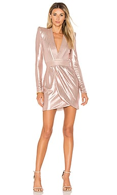 Eye Of Horus Metallic Mini Dress