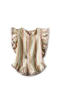 Tropicale Fringe Kaftan in Stripe