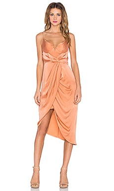 Zimmermann Sueded Balconette Dress in Ochre