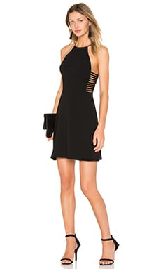 Zimmermann Crepe Harness Dress in Black