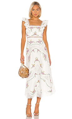 Allia Cross Stitch Dress Zimmermann $895 Collections