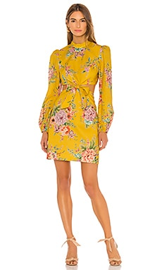 Zinnia Bow Cut Out Short Dress Zimmermann $340