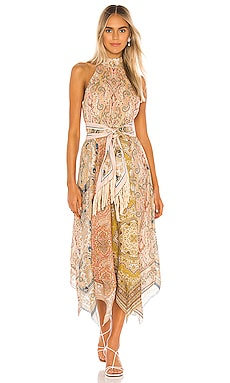 Freja Scarf Hem Long Dress Zimmermann $850