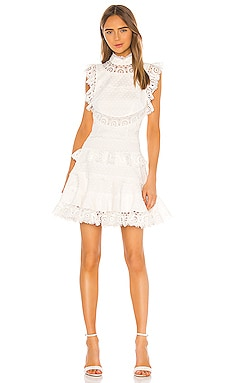 Peggy Embroidered Trim Short Dress Zimmermann $895
