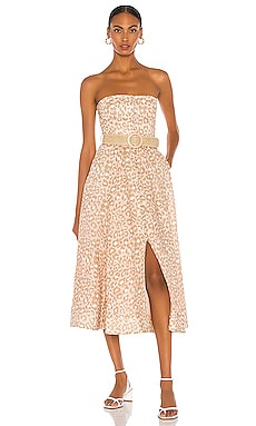 Carnaby Bustier Midi Dress Zimmermann $695