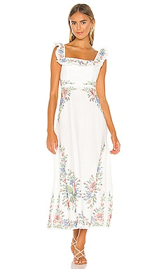 Juliette Cross Stitch Dress Zimmermann $850