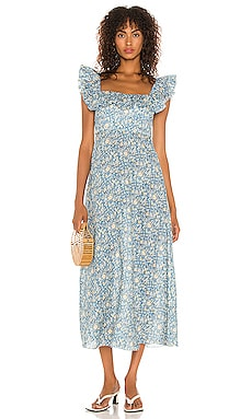 Carnaby Ruffle Neck Long Dress Zimmermann $640 NEW