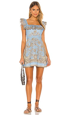 Fiesta Ruffle Neck Short Dress Zimmermann $530