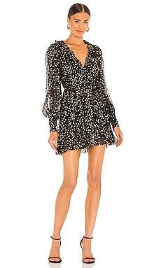 Lurex Wrap Mini Dress Zimmermann $650
