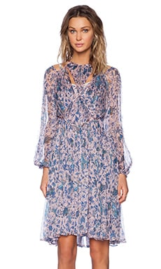 Zimmermann Riot Web Dress in Pink Batik