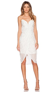 Zimmermann Seer Twist Dress in White & Silver
