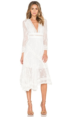Zimmermann Admire Cherry Dress in Ivory